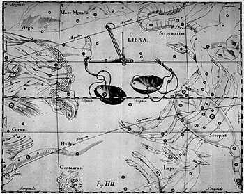 The Libra constellation, 1690.